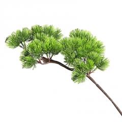 大美人松枝直销崖柏松叶子仿真迎客松树盆景配件花材装饰植物假花