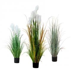 芦苇仿真洋葱草狗尾巴假草大型植物盆景北欧装饰盆栽室内落地绿植