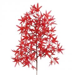 厂家直销迎客松根雕装饰树叶精品小枫叶崖柏松仿真红枫鸡爪五角枫