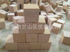 厂家生产:托盘脚墩,木屑垫块,刨花板木方,包装箱垫块 刨花墩