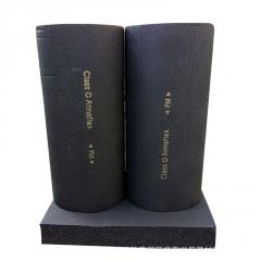 w红蓝保温管现货批发 b1级橡塑保温管套 高密度吸音橡塑海绵管