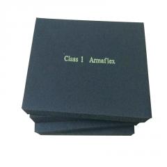 w现货批发b2级阻燃橡塑海绵板 空调背胶自粘隔热橡塑保温板