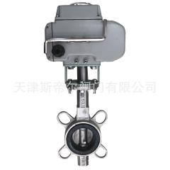 D971X-16P 电动不锈钢对夹蝶阀 涡轮软密封手动对夹蝶阀 厂家天津