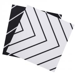 迷宫几何线条黑白花砖卫生间防滑地砖花片200艺术哑光瓷砖300墙砖