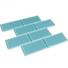 北欧玻璃面包砖白色小方砖卫生间浴室厨房厕所阳台瓷砖连锁店墙砖