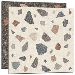 防滑彩色水磨石地砖厨房卫生间墙砖客厅服装店餐饮店网红颗粒瓷砖