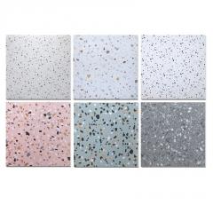 特价工程瓷砖彩色颗粒水磨石仿古砖600连锁店地砖哑光防滑地板砖