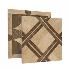 全瓷拼花木纹瓷砖客厅地砖仿木纹地板砖美式复古卧室防滑600