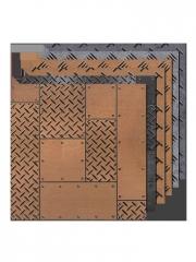 工业风瓷砖铁板砖防滑凹凸地砖仿古砖酒吧KTV个性仿金属钢板砖600