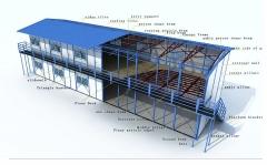 厂家直销集装箱房窗户 活动房塑钢窗 批发移动拆装便携式集成房屋