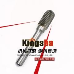 京士霸硬质合金旋转锉刀打磨头铣刀钨钢滚磨刀 C型 6mm柄