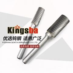 京士霸硬质合金旋转锉刀打磨头铣刀钨钢滚磨刀 A型 6mm柄