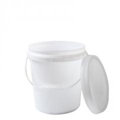 希盛达塑料桶16L全新加固化工塑料桶 加厚乳胶桶涂料桶密封圆桶