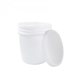 白色涂料桶化工塑料桶 原材料加工密封包装桶 25L大号塑料圆桶