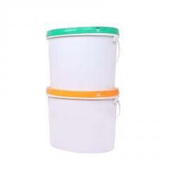 新款PP椭圆涂料桶化工桶 进口材料食品级包装桶 10L密封塑料桶