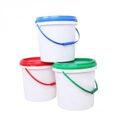 全新PP化工塑料桶食品级包装桶 10L加厚胶桶涂料桶 密封塑料圆桶