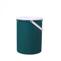 厂家直销6L仿铁圆桶 PE加厚带盖密封油漆桶化工桶黑色塑料桶定制