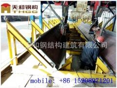 非洲澳大利亚外贸出口镀锌钢构件H钢柱钢梁天和公司加工的