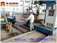 青岛平度钢结构q235b材质6米檐高喷漆镀锌电厂企业钢结构厂房