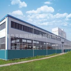 Q235B 天津日照钢材低成本喷漆的钢结构仓库厂房天和加工