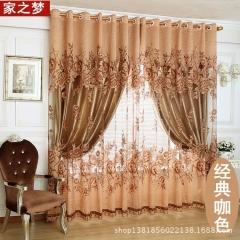 罗曼蒂克高档奢华客厅卧室 遮光窗帘布定制窗帘厂家直销简约窗纱