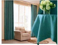 纯色雪尼尔窗帘成品定制加厚高遮光布卧室客厅落地飘窗帘特价紫色