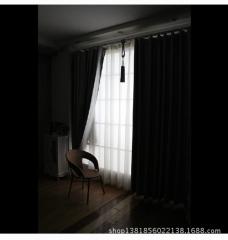 全遮光窗帘可隔热涂层遮光布 厂房窗帘布防晒窗帘全遮光 成品代发