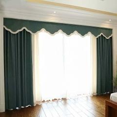 纯色羊绒窗帘 高档窗帘加厚保暖 全遮光 纯色条纹简约窗帘 定制