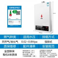 尚朋堂(中国台湾品牌)恒温强排式燃气热水器10升四季控温型速热