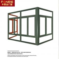 欧式户外别墅光房定制 庭院阳台玻璃房隔热遮阳 铝合金凉亭