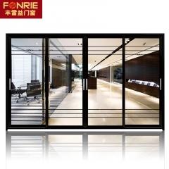 佛山厂家批发定制 多米窄边框钛镁铝合金落地移门 简约厨房推拉门