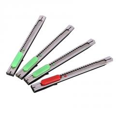 小号不锈钢美工刀 便携办公用品金属裁纸刀 学生文具工具刀批发