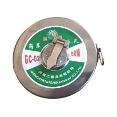 铁圆盘钢架尺 50米30米20米铁壳钢卷尺合尺 不锈钢测量工具批发