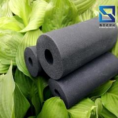 橡塑保温海绵管壳 带铝箔吸引防火隔热阻燃橡塑发泡管现货批发