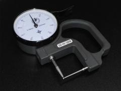 【诚信厂家】电子数显千分管厚规0-10mm指针式壁厚表、管厚仪