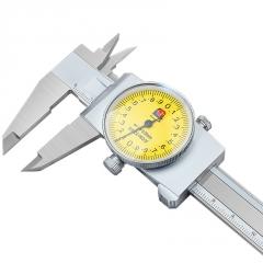 广陆正品不锈钢四用带表卡尺0-150-200-300高精度带表盘游标卡尺