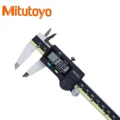 低价处理库存Mitutoyo三丰电子数显卡尺加硬不锈钢游标高精度量具