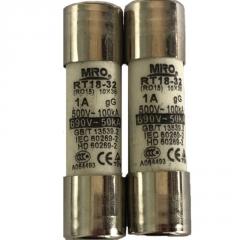 茗熔圆筒帽熔断器RT18-32/R015 保险丝10*38 0.5A/1A/2A/3A至32A