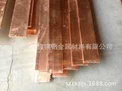 厂家直销 现货优惠销售T1紫铜板/排 3*30接地T2紫铜排 铜条 特价