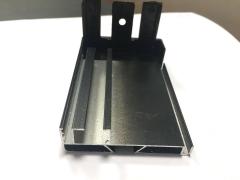 30X30开口方管铝材 夹玻璃铝合金 CNC加工铝材 开模定制工业型材