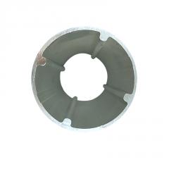 表面处理灯筒 筒灯散热器铝合金型材 铝管铝合金铝型材加工