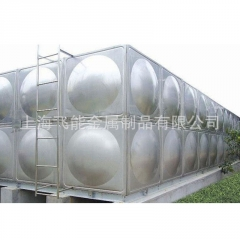 飞能厂家定做304不锈钢方形水塔水箱 保温水箱 消防水箱 生活水箱