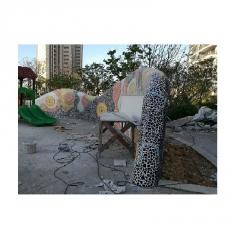 陶瓷马赛克公园学校酒店别墅市园林碎青花陶瓷碎瓷片拼图厂家直销