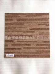 仿地毯纹块状PVC地板砖 学校电教书法画室琴棋类培训中心石塑地板