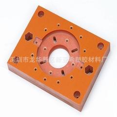 深圳电木板橘红色电木条电木治具 防静电电木板加工雕刻