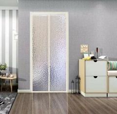 空调门帘防风厨房油烟家用防蚊门帘挡风隔断塑料冷气透明自吸磁铁