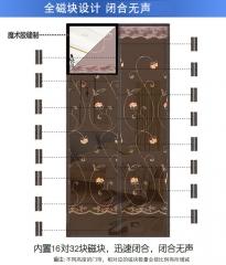 Magnetic soft yarn door 刺绣魔术胶防蚊纱门 夏季加密门帘 厂家