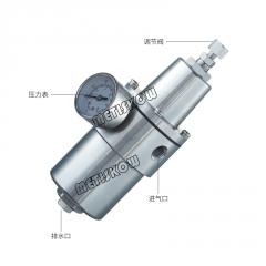 AW3000全不锈钢空气过滤减压阀内螺纹NPT1/4自动排水高压减压器