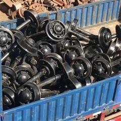 矿用矿车轮250mm空心轮对300mm实心轮铸钢矿用车轮卖家包邮