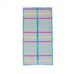 简约条纹防蚊门帘厂家定制  自动闭合加密网眼设计门帘